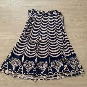Vintage 1970s Cotton Wrap Skirt
